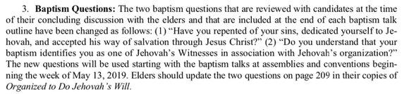 Изменения в формулировке вопросов для крестящися JW