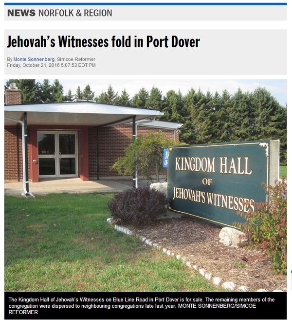 Зал Царства на продажу в Канаде