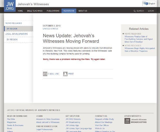 Удаление видео с Джаредом Кушнером с сайта JW