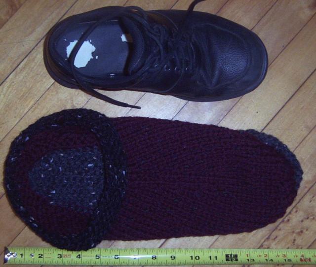Pre-felted slipper