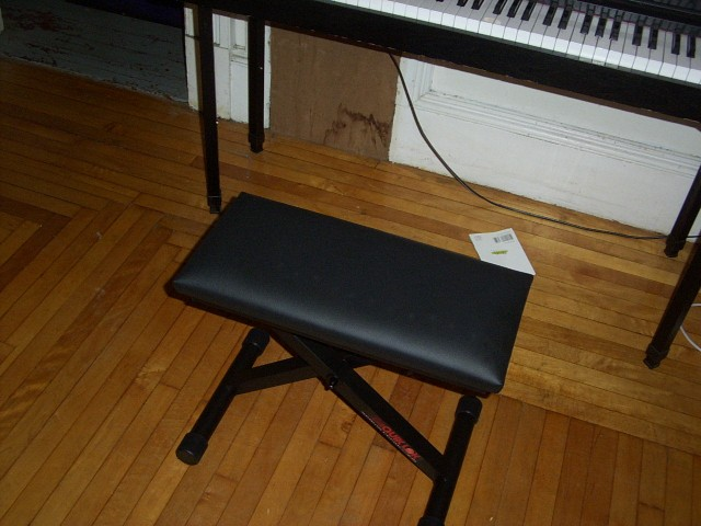 collapsable piano bench