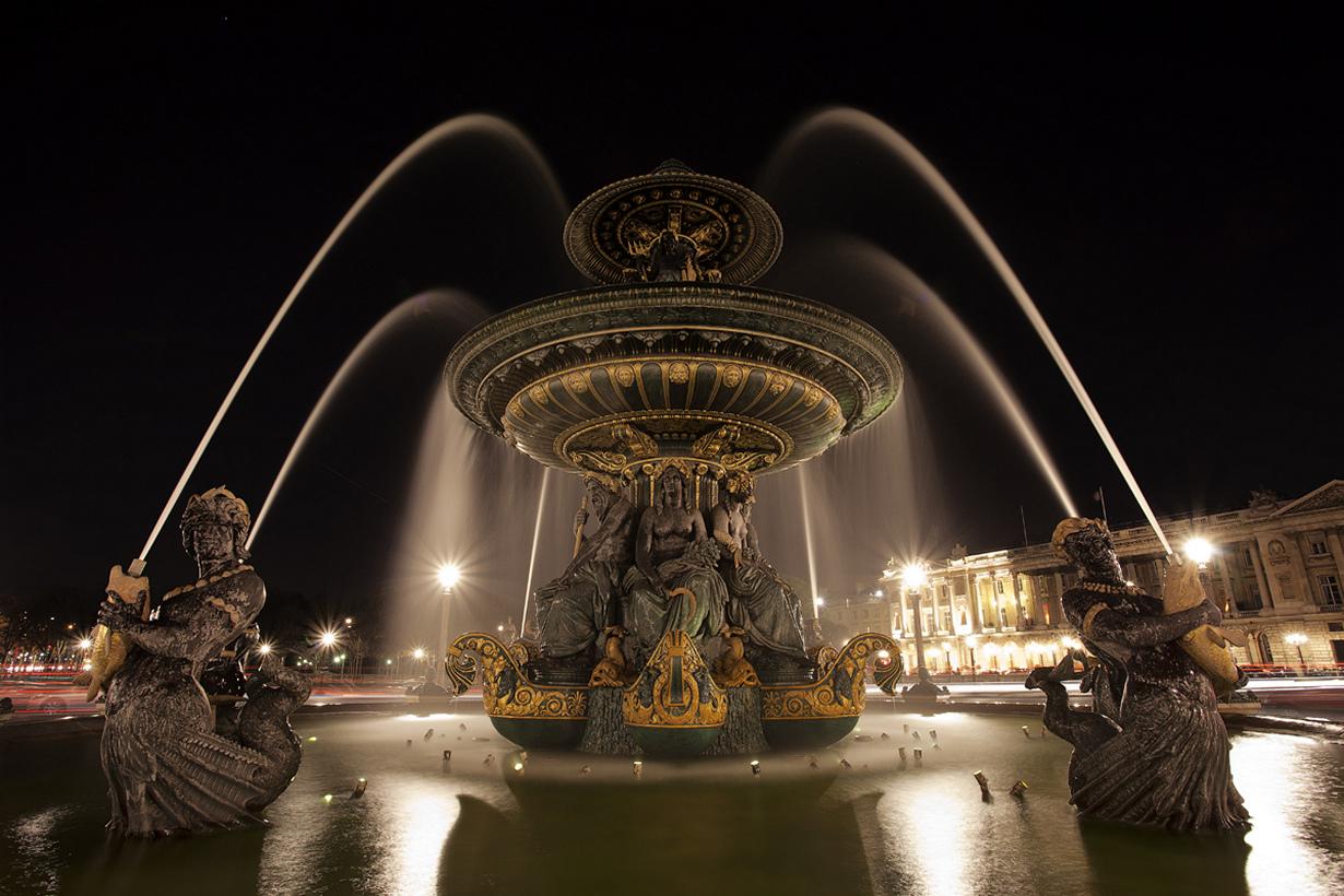 Франция, Париж, Фонтан на площади Согласия