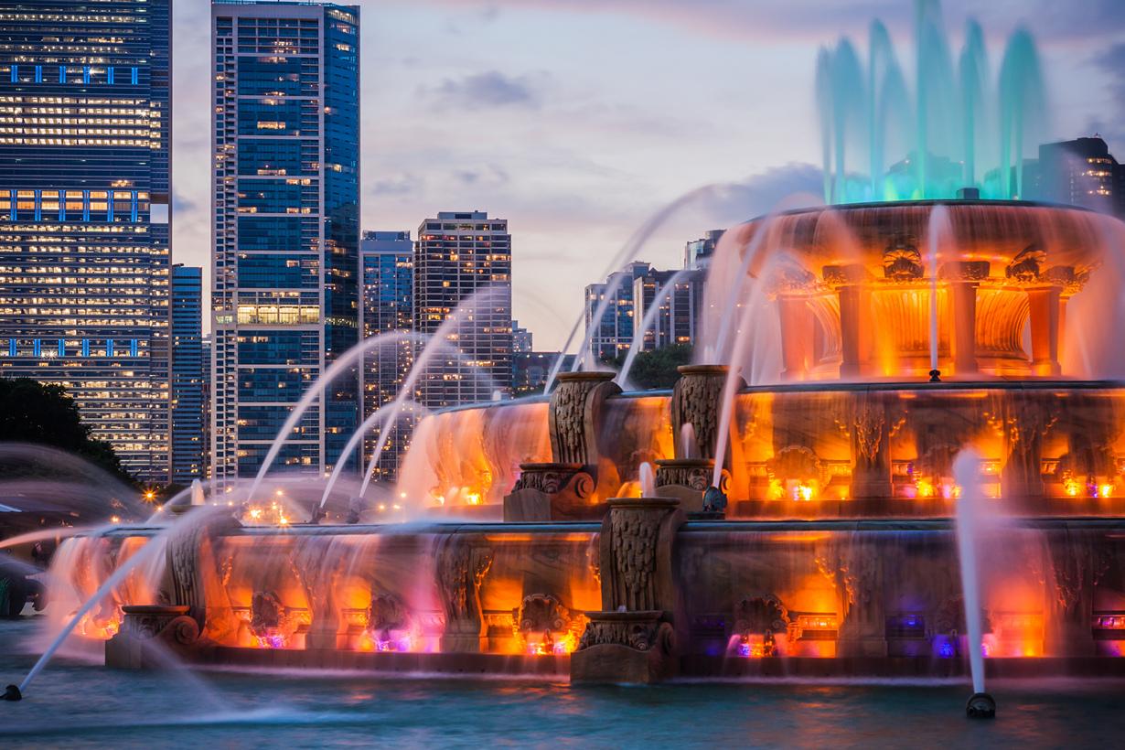 США, Чикаго, Букингемский фонтан