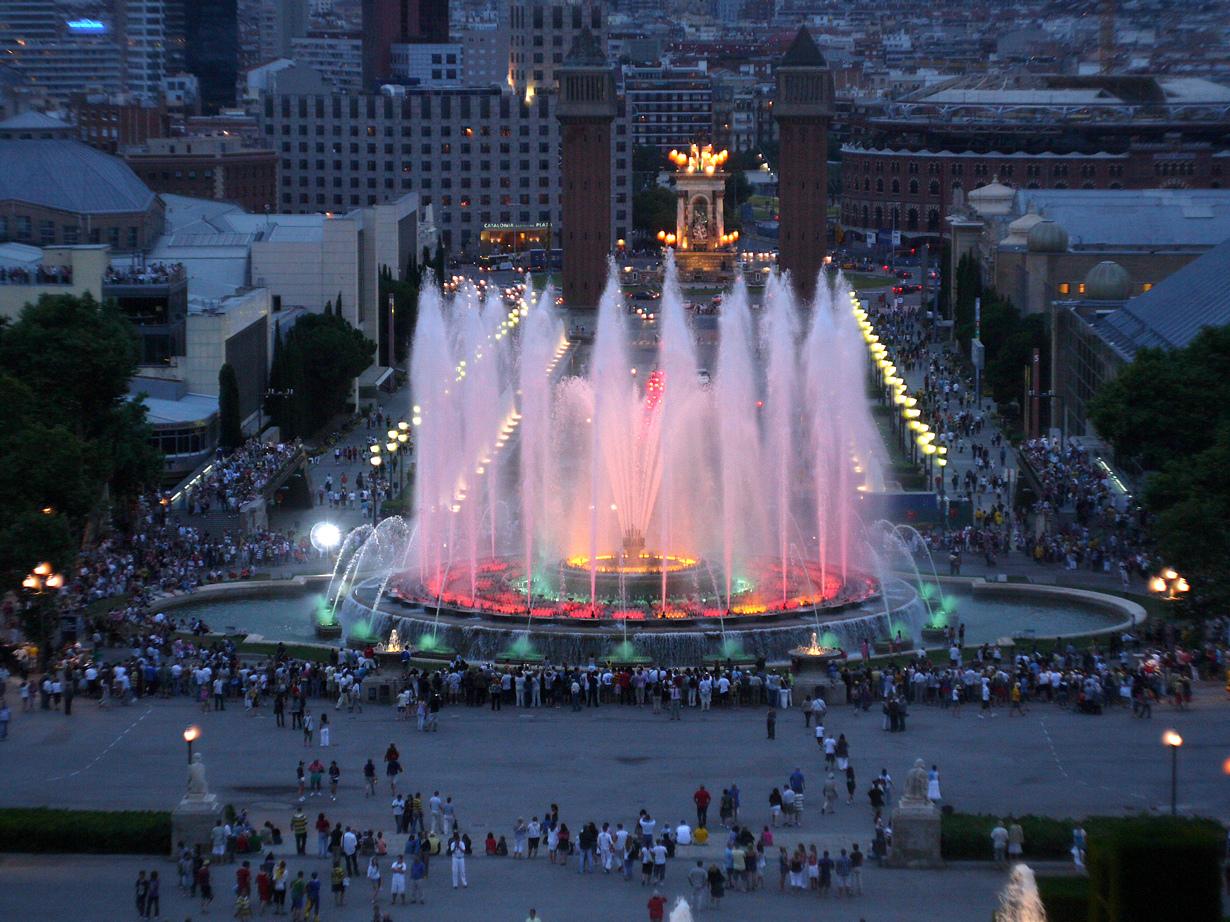 Испания, Барселона, Магический фонтан Монжуика