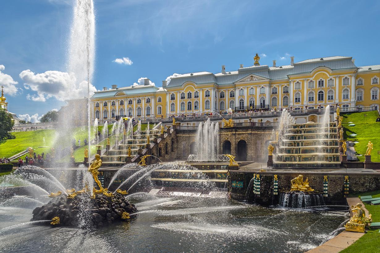 Россия, Петергоф, Фонтаны дворцово-паркового ансамбля Петергоф