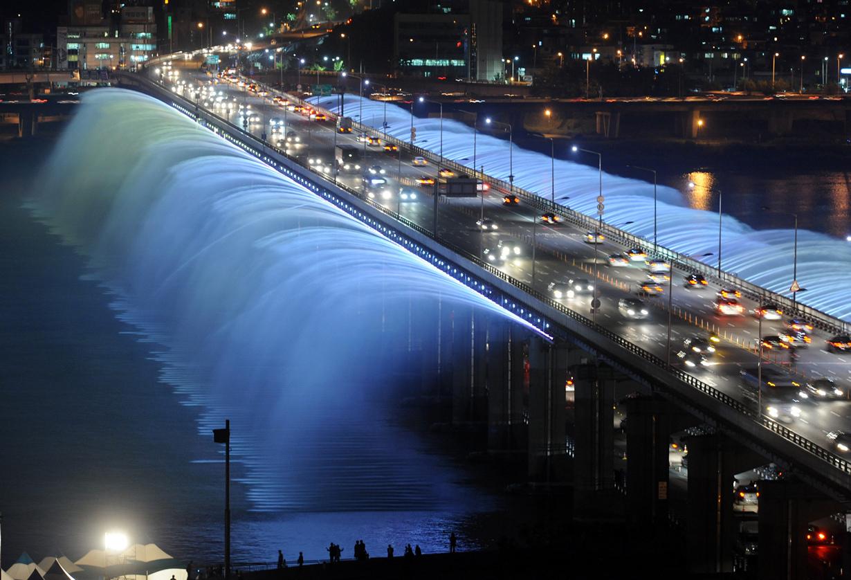 Республика Корея, Сеул, Мост-фонтан радуги
