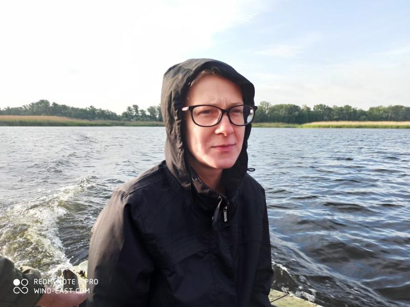 На корме лодки