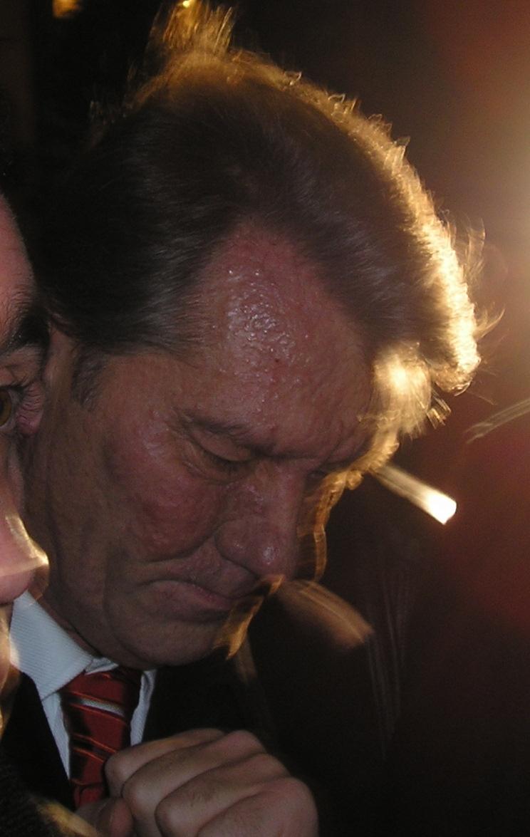 Ющенко после отравления