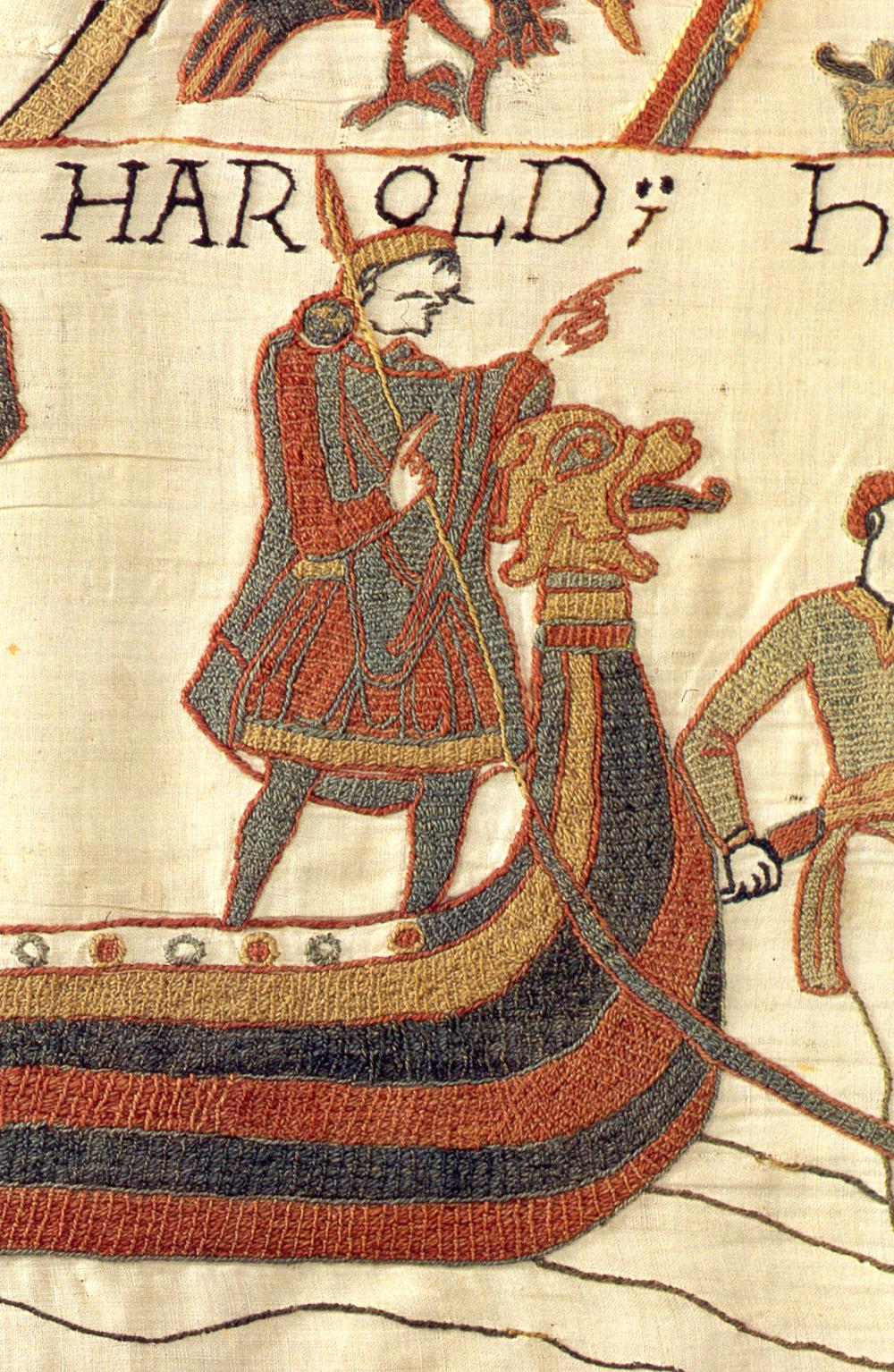 Гарольд плывает в Нормандию