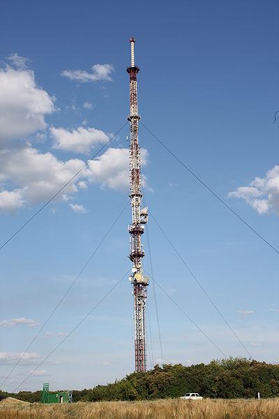 Телевышка на горе Кременец города Изюма Харьковская область