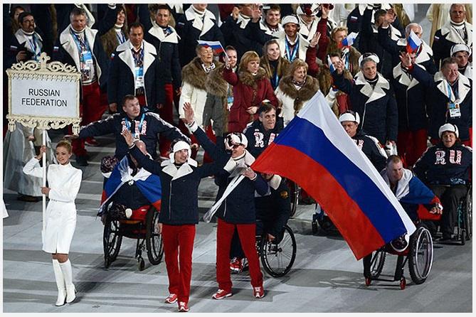 паралимпиада 2014 открытие знамёна
