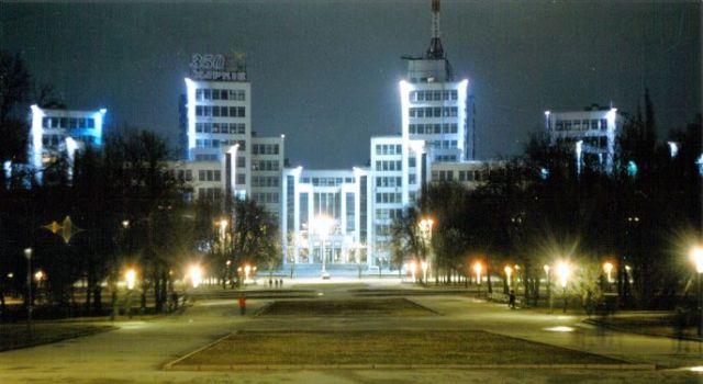 Госпром Харьков ночью