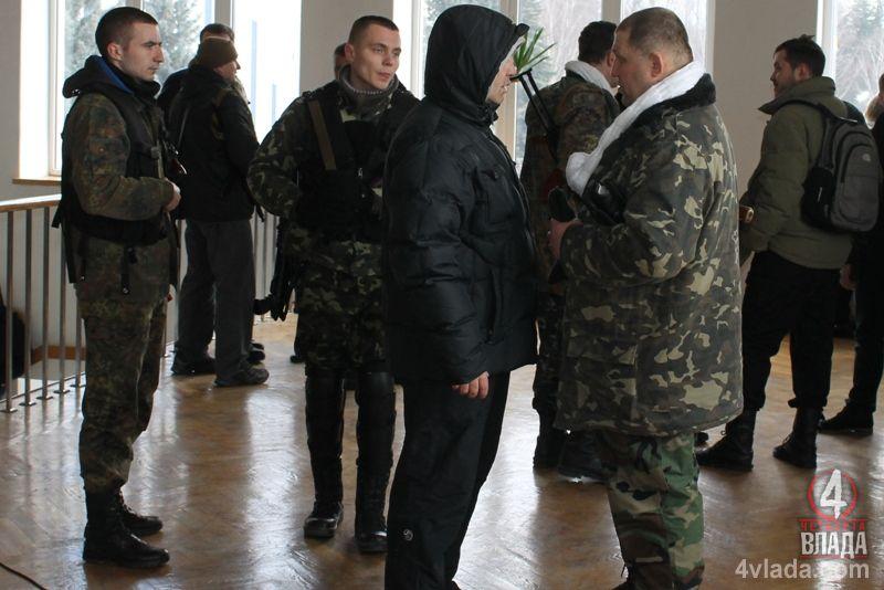 Билый и боевики на сессии Ровенской облрады