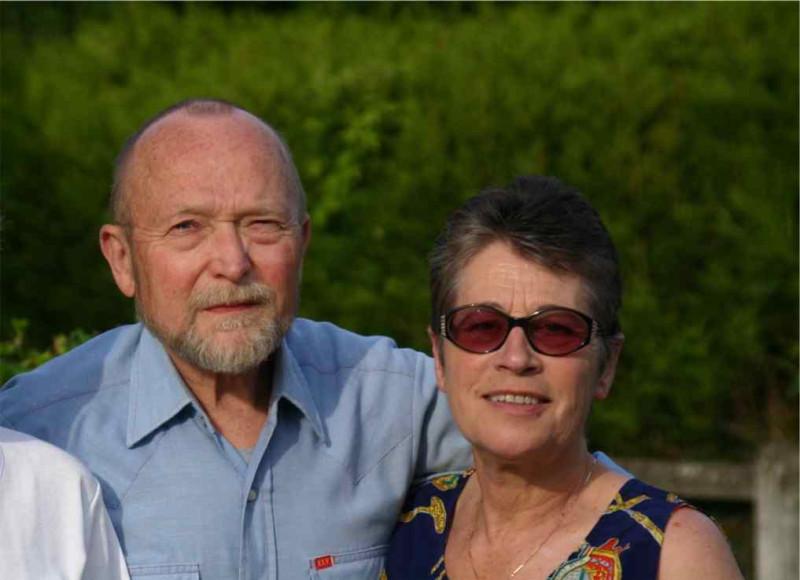 Андрей Николаевич Швахгейм с женой Аннетт. Фото 2000 г.г.