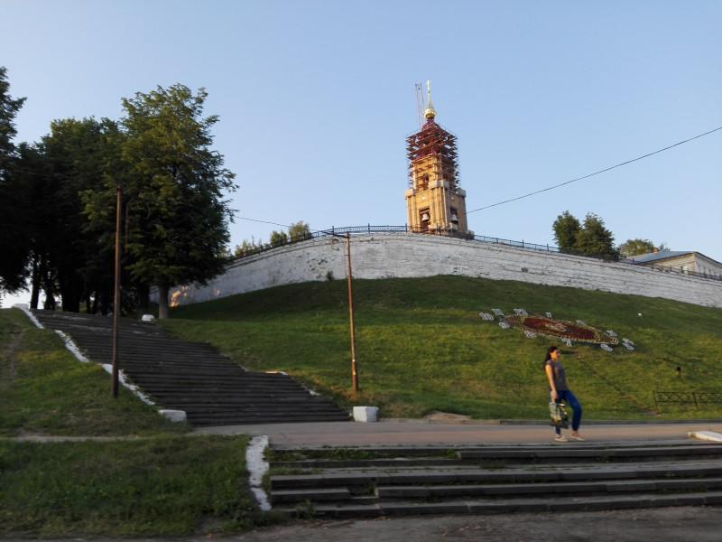 Вид с набережной на Кремль.