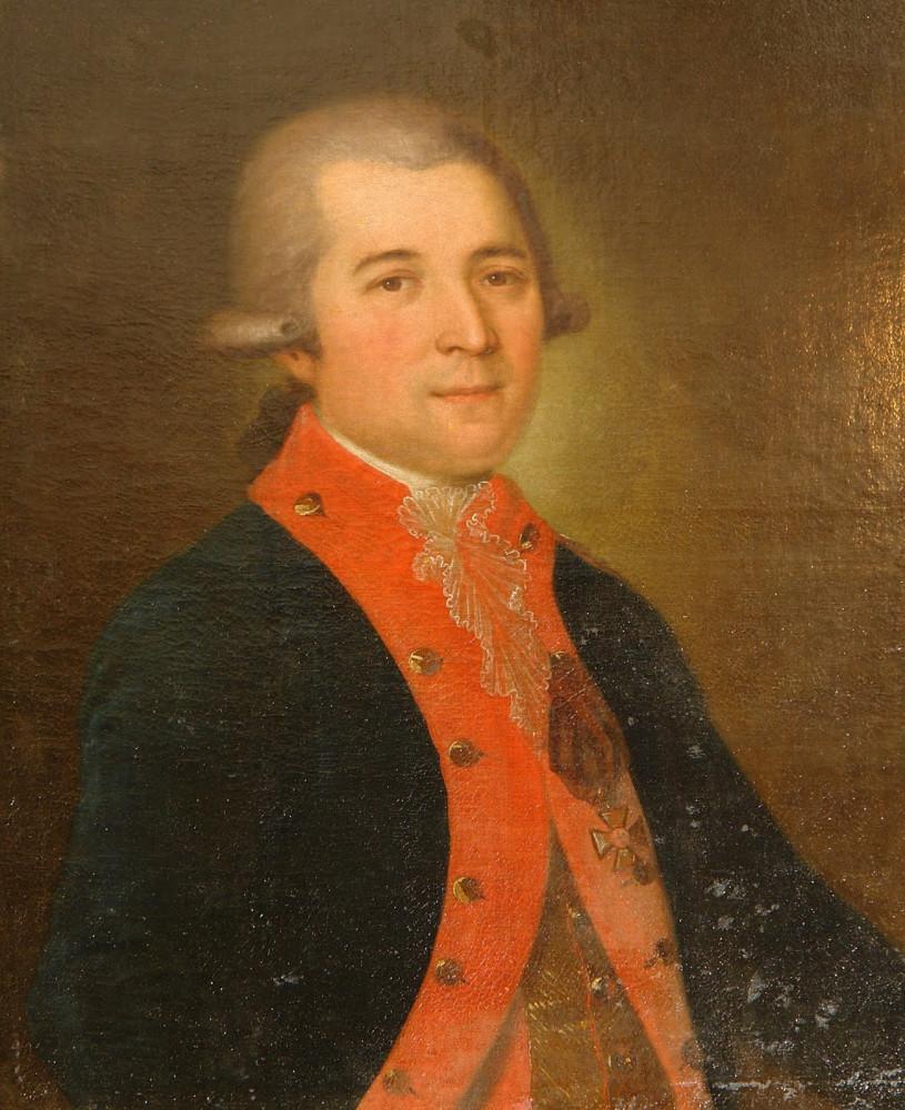 Юрий Алексеевич Пушкин (1743-1793). Портрет из усадьбы Новинки.