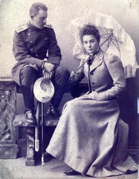 Георгий Александрович Багратион-Мухранский с сестрой Елизаветой.