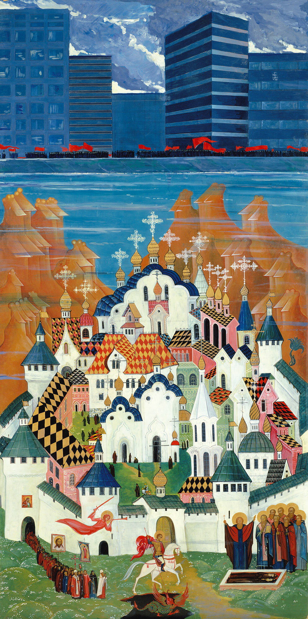"""И.С. Глазунов. """"Град Китеж"""". 1979 г."""