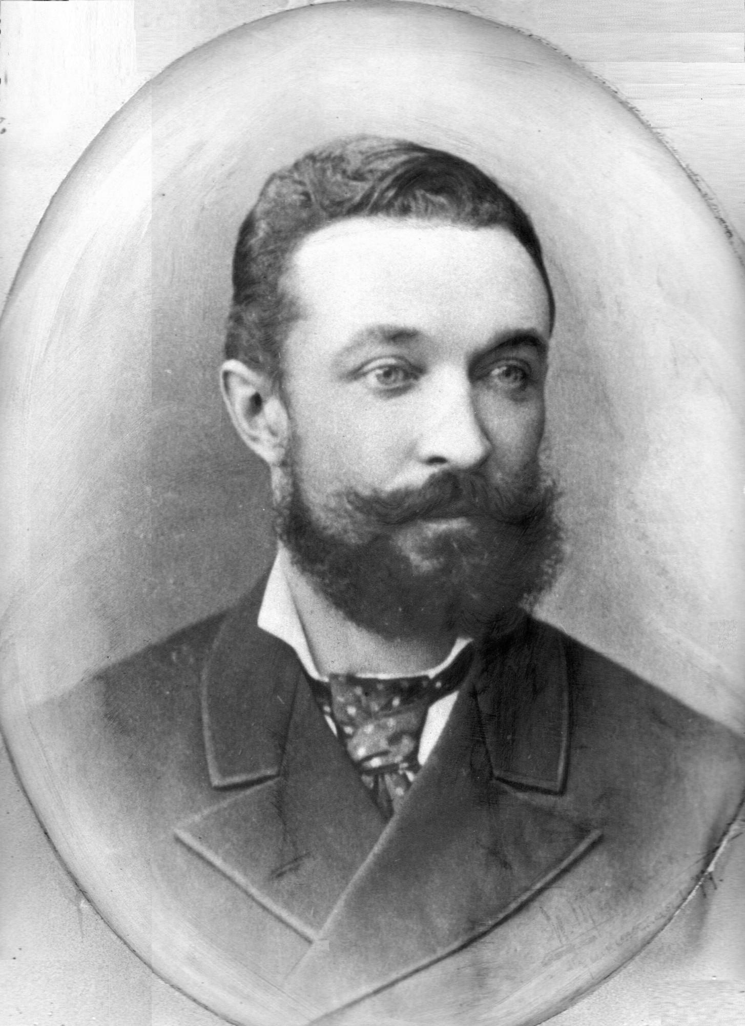 Пётр Константинович Ротаст (1851-1905), отец Георгия Петровича и Антонины Петровна. Фото 1880-х г.г.