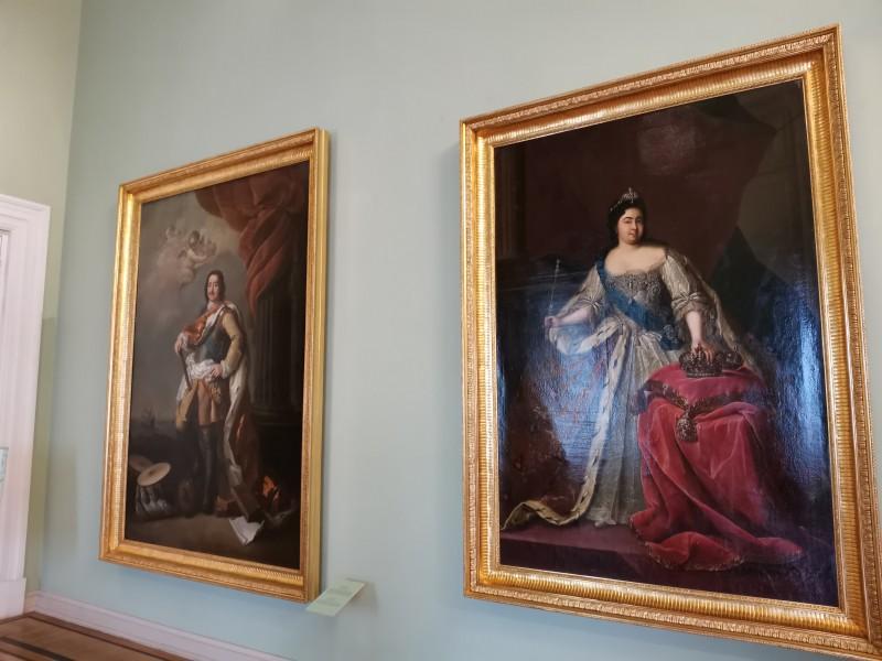 Пётр 1-й и Екатерина 1-я