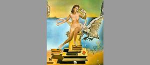 salvador-dali-paintings-atomic-leda-1949