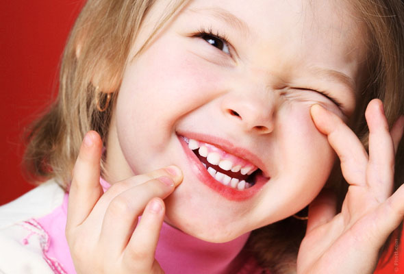 girl laughs