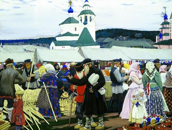 The_Fair_(Kustodiev)