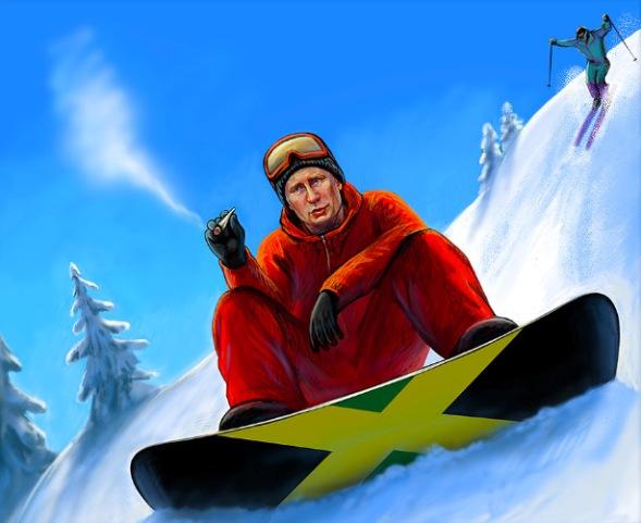 Путин-сноуборд