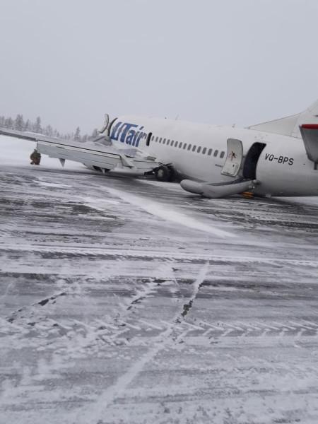Неудачная посадка Боинга авиакомпании ЮТэйр в Коми