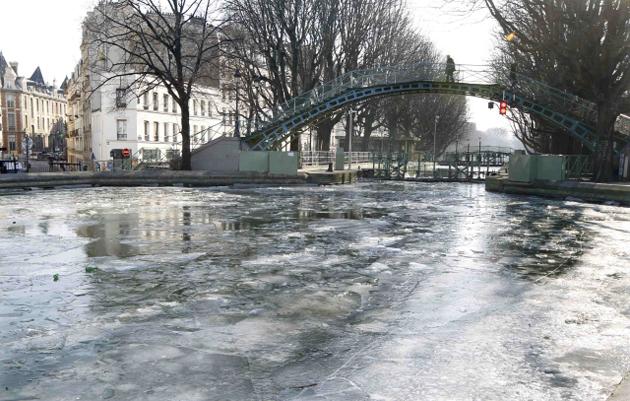 Канал Сен-Мартен, Париж. 7 февраля 2012