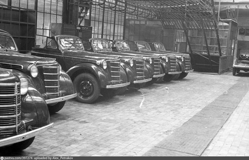 Редкие фото завода МЗМА конца 40-х годов