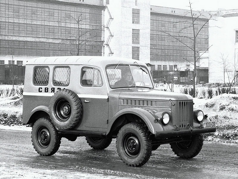 """1960-е ГАЗ-19 """"СВЯЗЬ"""" на жёлтых номерах гв00-19 (Горьковская обл.)"""