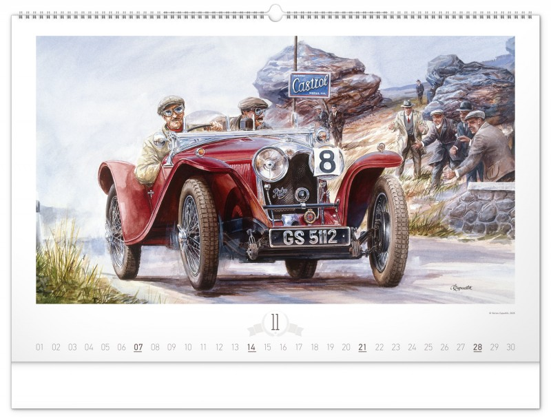 1934 Riley 9 Imp_Вацлав Западлик (календарь на 2021 год 11 месяц)