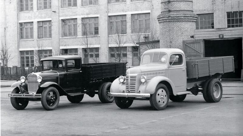 1939 ГАЗ-51 (опытный) и ГАЗ-АА