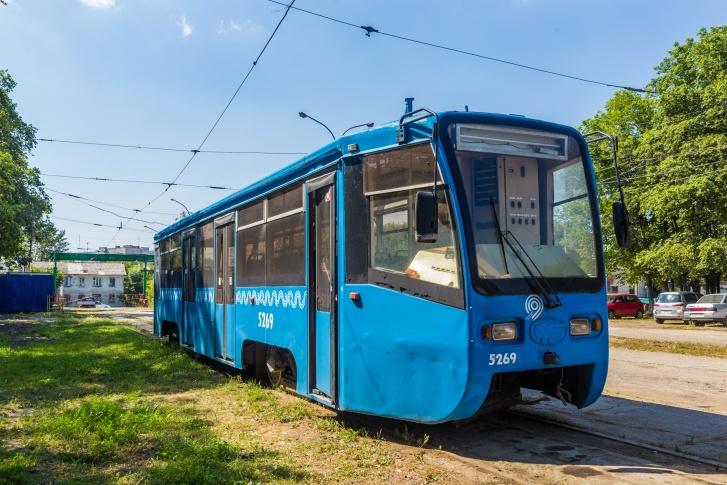 2019 Трамвай 71-619К в Московском раскрасе (г. Новосибирск)