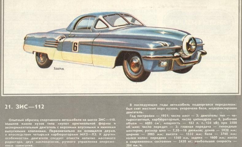 "1951 ЗИС-112 (Из коллекции ""За рулём"" 1984-11, рисунок Захарова А.)"