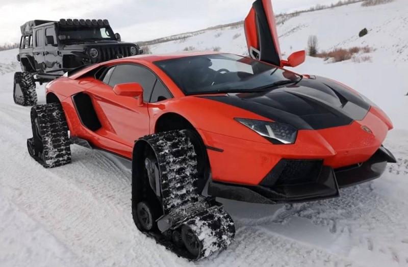 Lamborghini Aventador (зимний вариант — https://dymontiger.livejournal.com/2021)