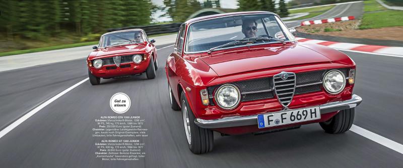 "1969 Alfa Romeo GT 1300 Junior & 1968 Alfa Romeo GTA 1300 Junior (по мотивам издания ""Motor Klassik 7 2021)"