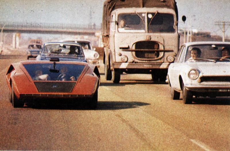 1970 Lancia Stratos HF Zero (dy Bertone) — Милан 1971 г.