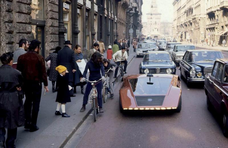 1970 Lancia Stratos HF Zero (dy Bertone) — Милан 1970 г.