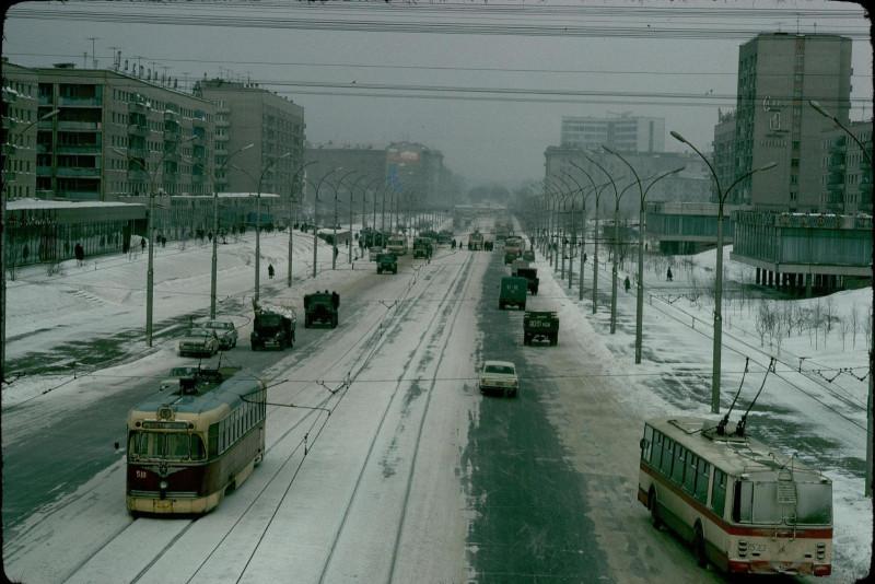 Новосибирск, Красный проспект, 1976 год.