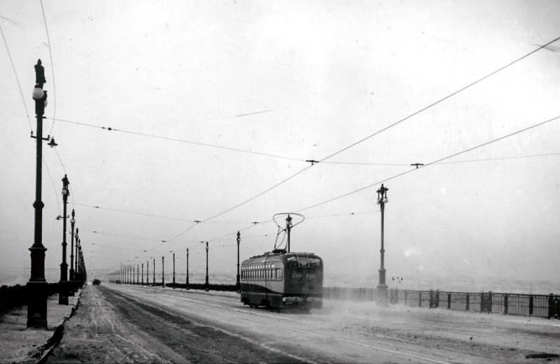 1953' Новосибирск. Коммунальный мост.