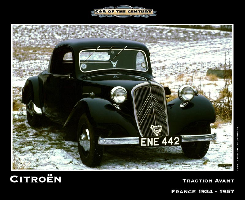 "Citroen Traction Avant - ""CAR of the Century"""