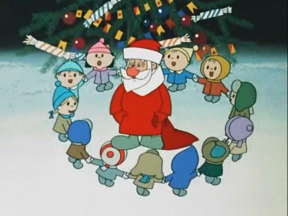 Дедушка Мороз и детский хоровод!