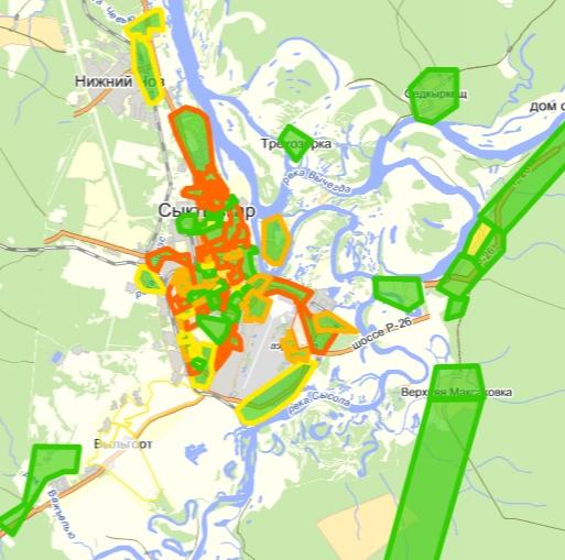 Выборы. Сыктывкар. Карта 2.0 - Не для печати: http://kablis.livejournal.com/11069.html