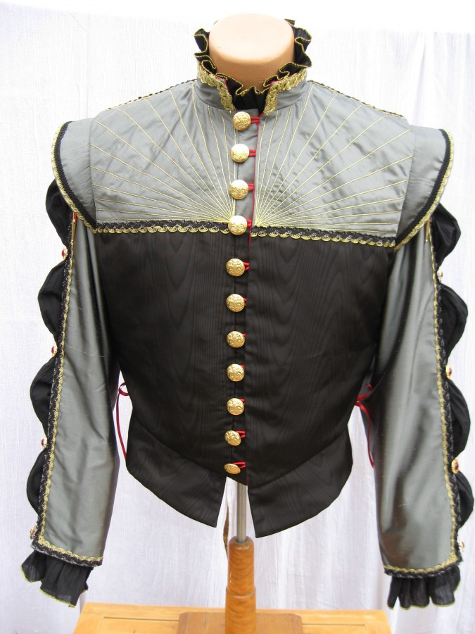 buttoned front view