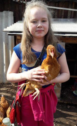 Соня с курицей