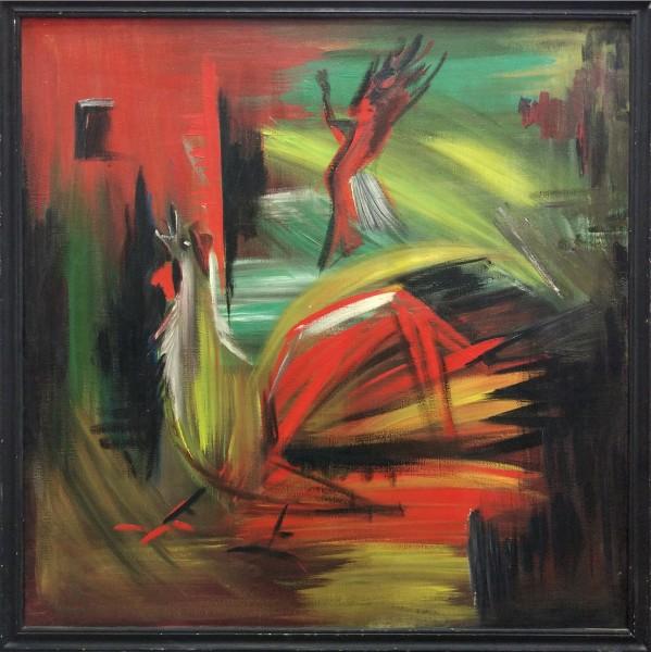 «Танец смерти»  1988 г. х., м. Размер  100х100 см..jpg