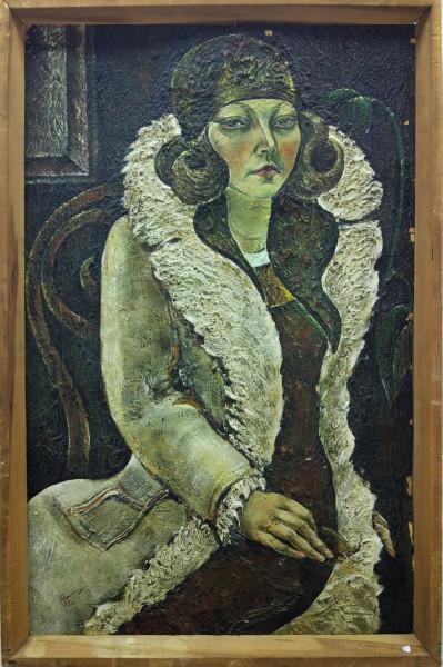 «Хивинские ковровщицы» 1977 г. к., тем. Размер 80х50 см.jpg