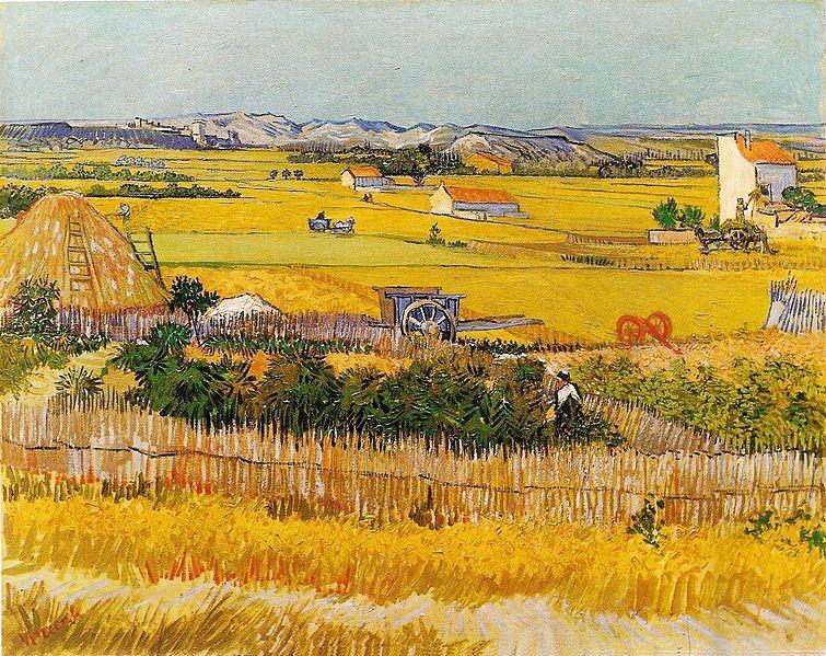 """Ван Гог """"Урожай""""   Спокойный, мирный расслабленный пейзаж. Кажется, что это август, но картина была написана в июне."""